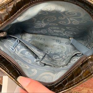 Brighton Bags - Brighton Olive Green Croc Embossed Shoulder Bag